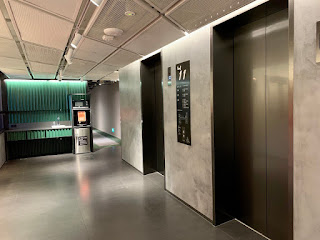 Lift lobby with water and ice machines at lyf Funan