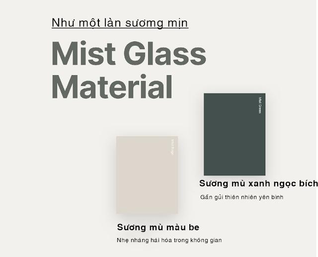 BỘ THIẾT KẾ HAI MÀU CHỦ ĐẠO LG STYLER OBJECT 2021 - MIST GLASS và BEIGE GLASS