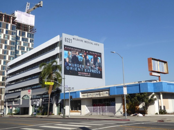 Murder on Orient Express billboard