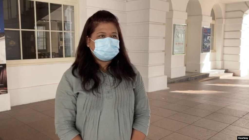 Parti Liyani pekerja migran asal Kabupaten Nganjuk, Jawa Timur, yang dituduh mencuri barang milik majikannya di Singapura. Jumat 5 September 2020. (Courtesy: Humanitarian Organization for Migration Economics)