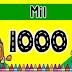 TARJETAS CON LA NUMERACIÓN DEL 100 AL 1000
