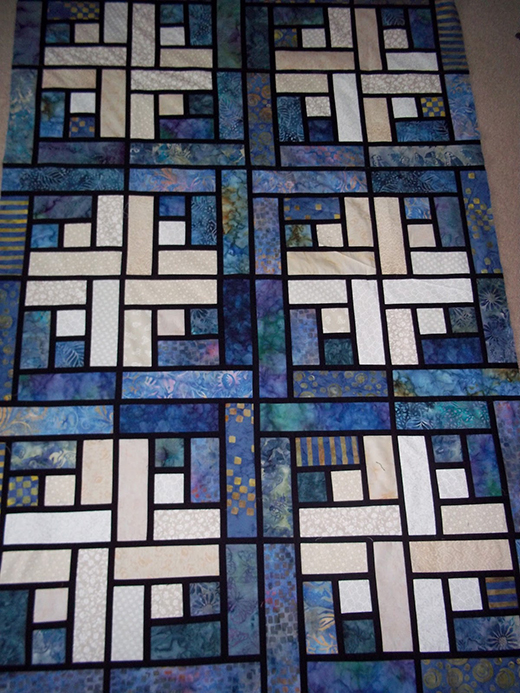 Quilting Land Stained Glass Log Cabin Quilt