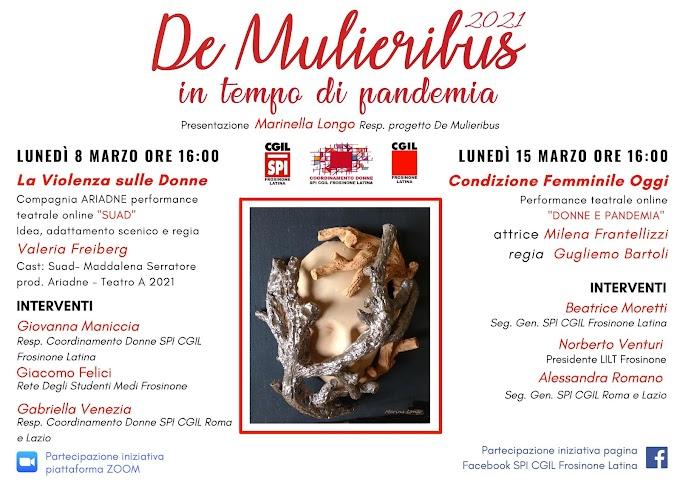 8 E 15 MARZO DE MULIERIBUS 2021, LA RASSEGNA DELLE ARTI AL FEMMINILE