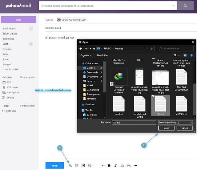 Cara Mengirim File Besar, dokumen, Lewat Email Yahoo