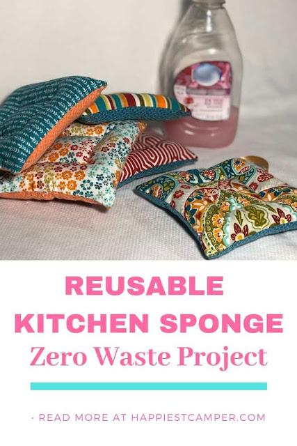 DIY reusable and washable kitchen sponge