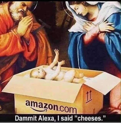 Funny religious meme - Dammit Alexa, I said cheeses