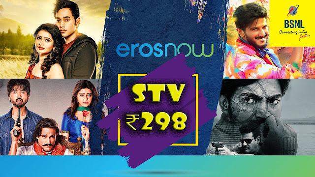 BSNL regularizes Unlimited Combo STV ₹298 having 56 days validity bundled with EROS Now premium OTT subscription