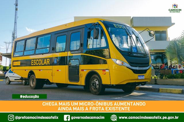 Camocim de São Félix é contemplada com mais um ônibus escolar