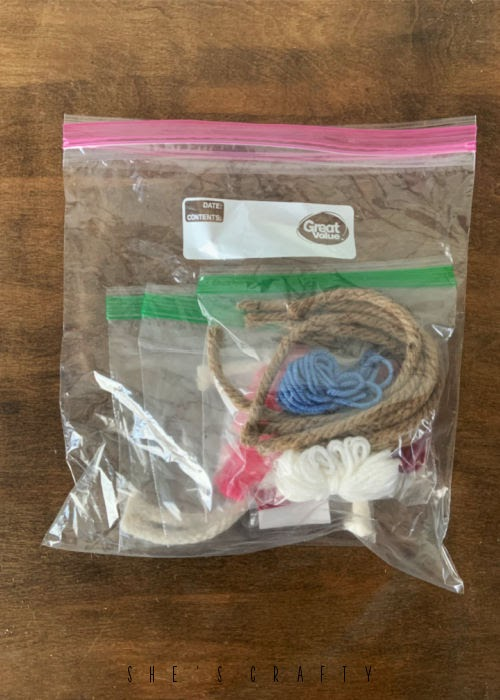 Kit idea for crafts at young women camp.