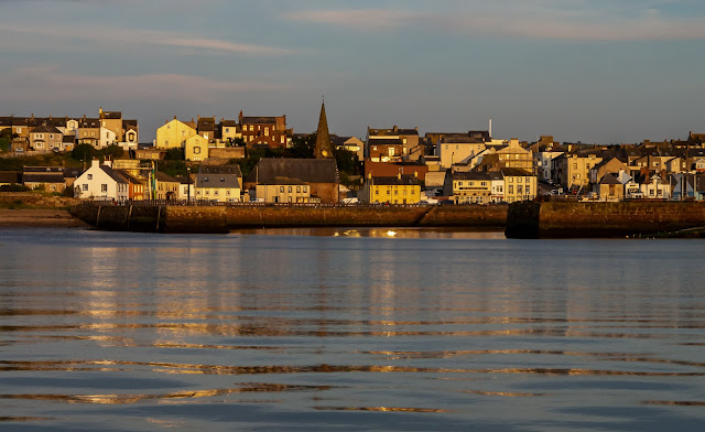 Photo of Maryport basking in the warm glow of the evening sun on Saturday