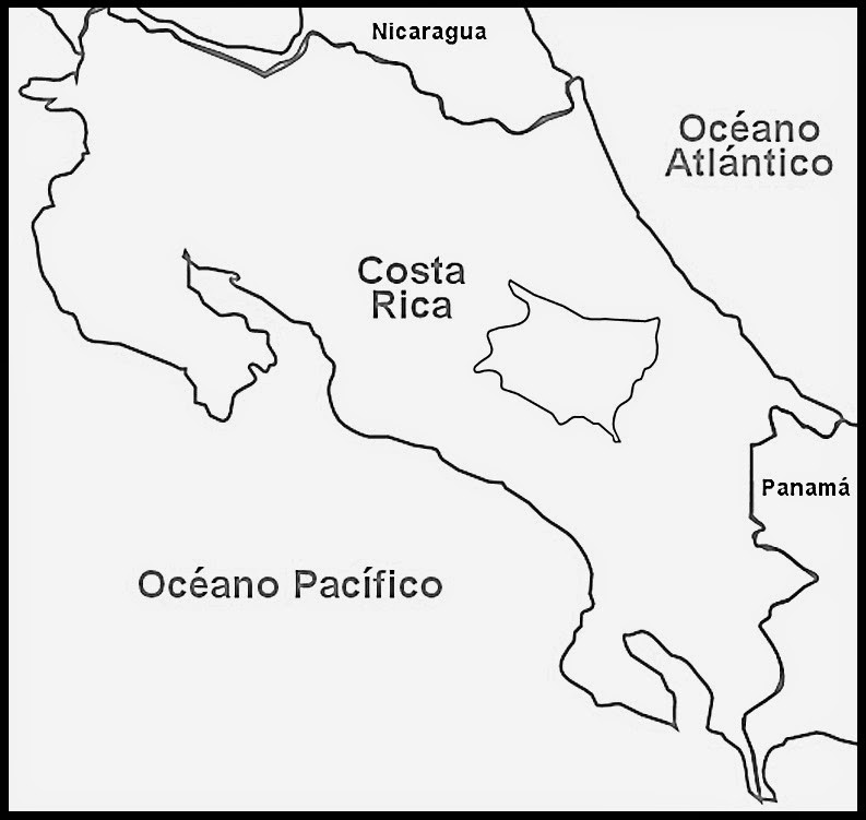Mapas De Costa Rica Para Colorear