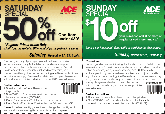 photo regarding Ace Hardware Printable Coupon identified as Ace components discount codes 50 off : Zelda 3ds xl discounts