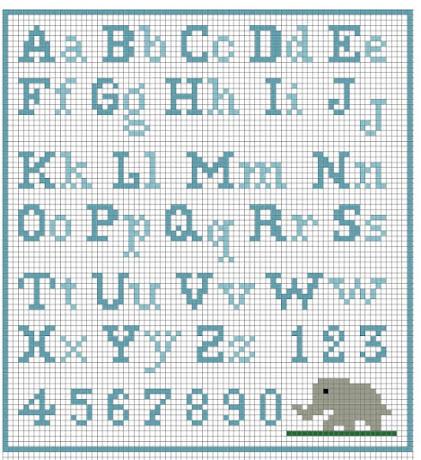 alfabeto e monogrammi facilissimi e veloci per bambini e neonati