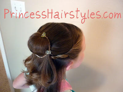 Belle hairstyle, Beauty and the Beast, video tutorial