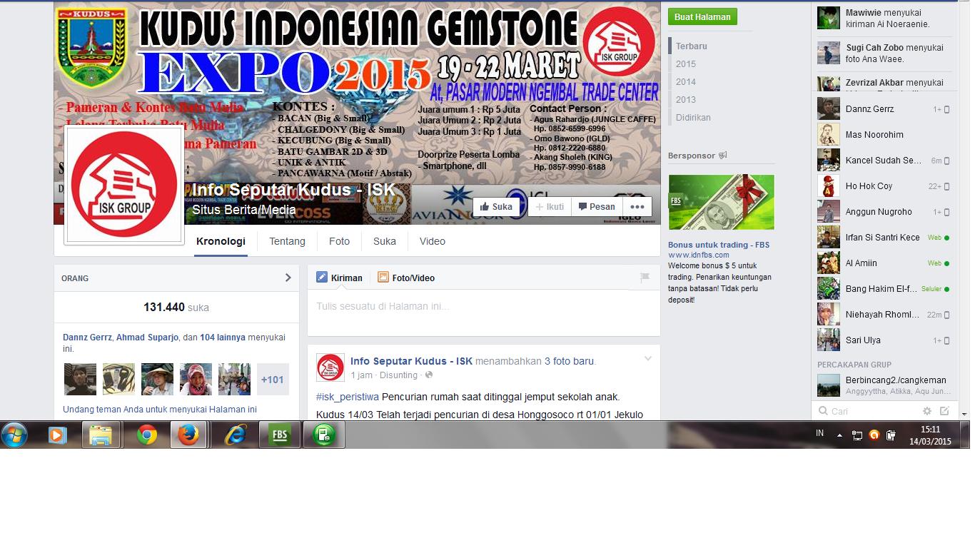 Laman FB ISK