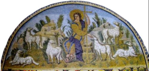mosaico ravennate del Buon Pastore