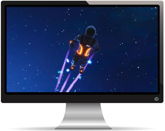 Fortnite Astronaute Envole - Fond d'écran en Ultra HD 4K 2160p