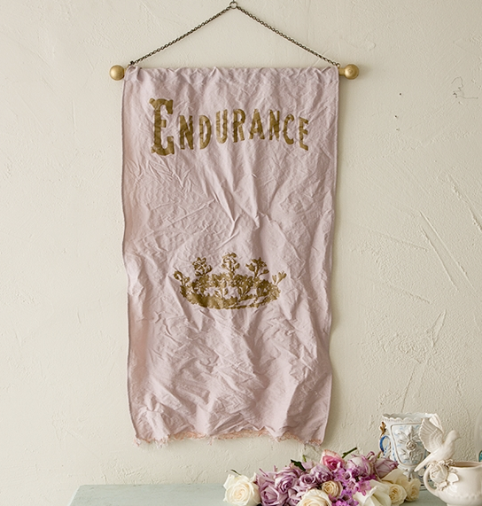 Pink Endurance banner by Rachel Ashwell o fShabby Chic Couture.