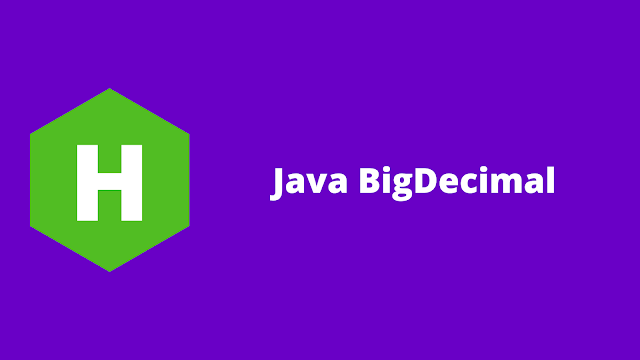 HackerRank Java BigDecimal problem solution