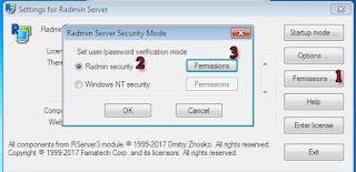 Permissions Radmin Server