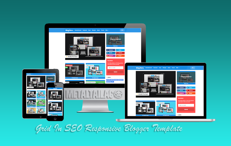 Grid In SEO Pro Responsive Blogger Template - Responsive Blogger Template