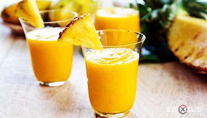 Resep cara membuat jus mangga campur nanas