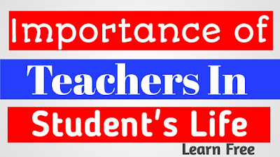 Importance of teachers in students life