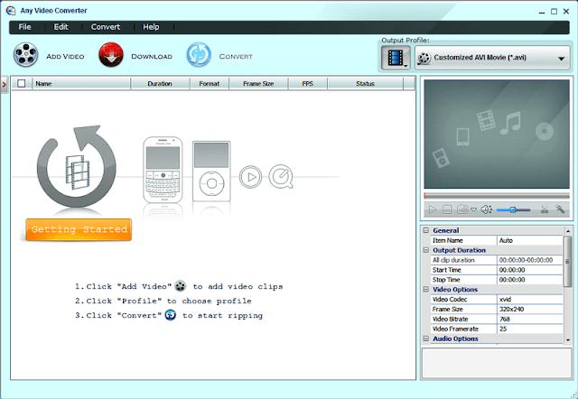 تحميل برنامج تحويل صيغ الفيديو 2018 للكمبيوتر - Any Video Converter مجانا
