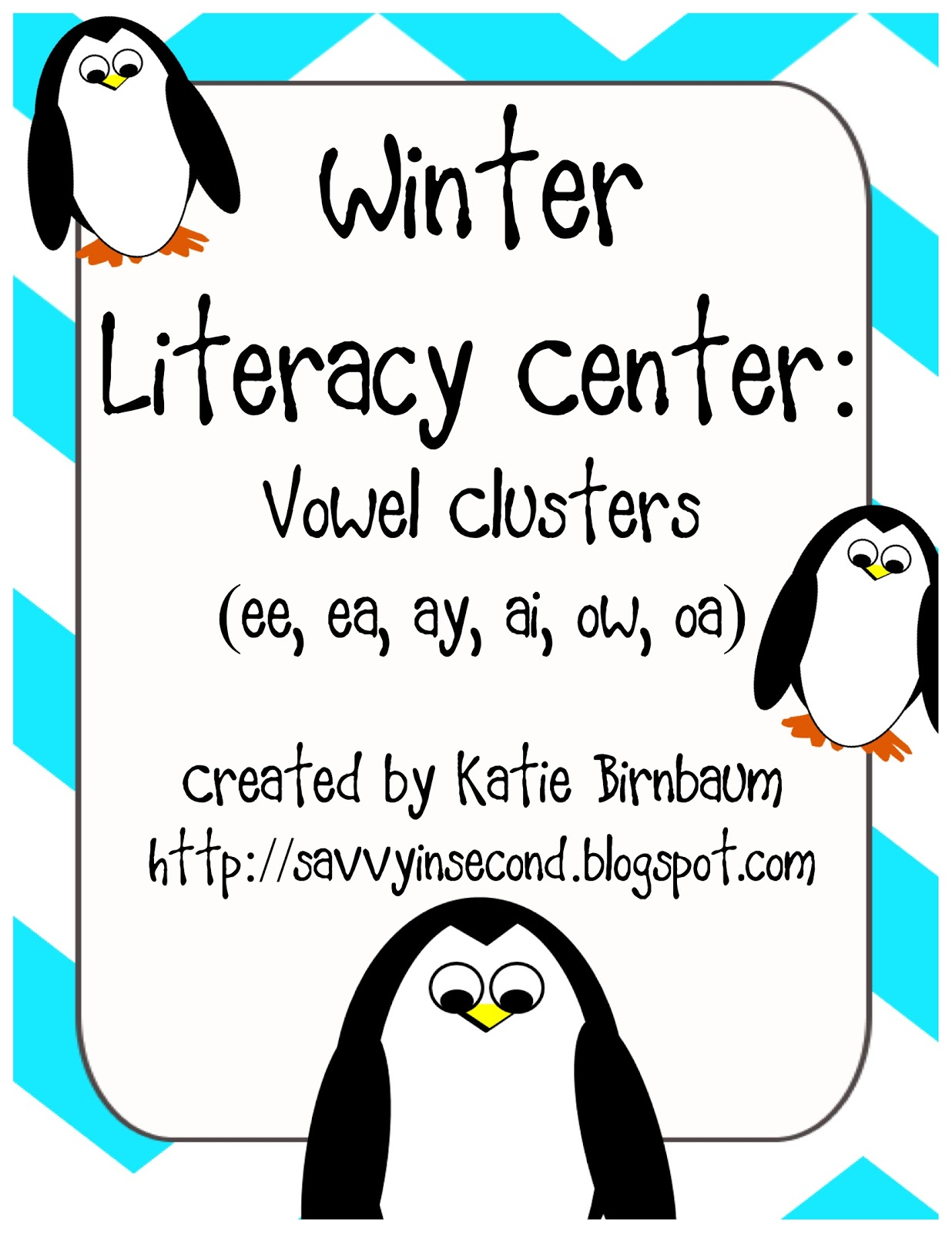 Savvy In Second Winter Literacy Centers