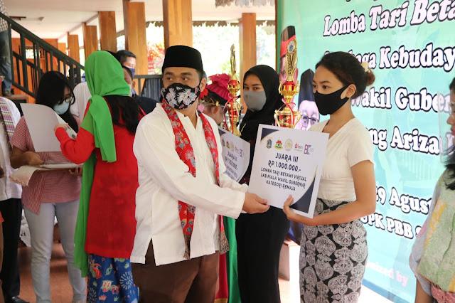 Wagub DKI Jakarta Apresiasi Pemenang Lomba Tari Betawi Secara Virtual
