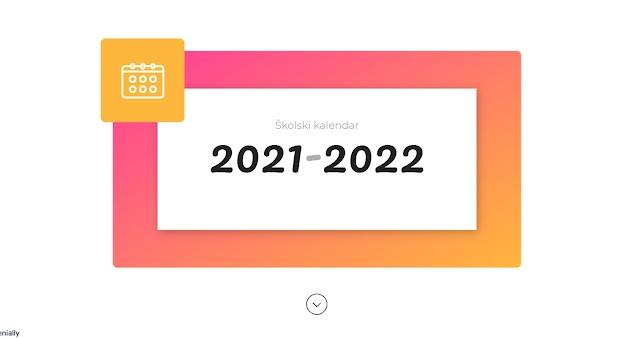Miro's School i Učitelj 21.vijeka Vam poklanjaju KALENDAR ZA ŠKOLSKU 2021/2022 GODINU - GENIALLY