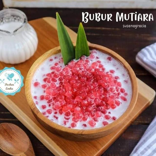 Resep Bubur Mutiara