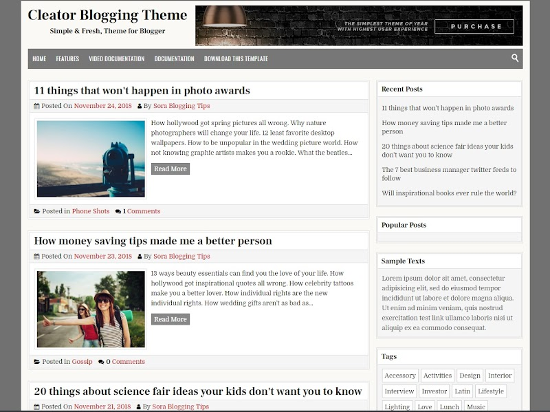 Cleator Goood Seo Personal Blogger Template