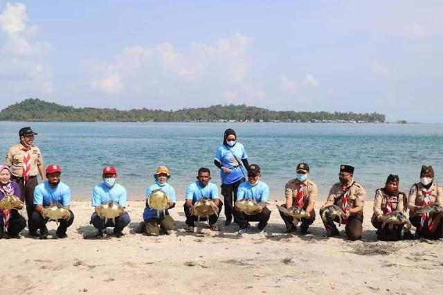 Kolaborasi Pramuka Batam dan PT Epson, Dukung Program Konservasi dan Parawisata Pulau Karas Kecil