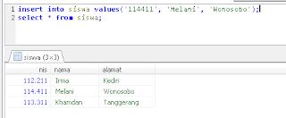 3 menambahkan data dalam tabel dengan perintah insert mysql tanpa menyebutkan kolom