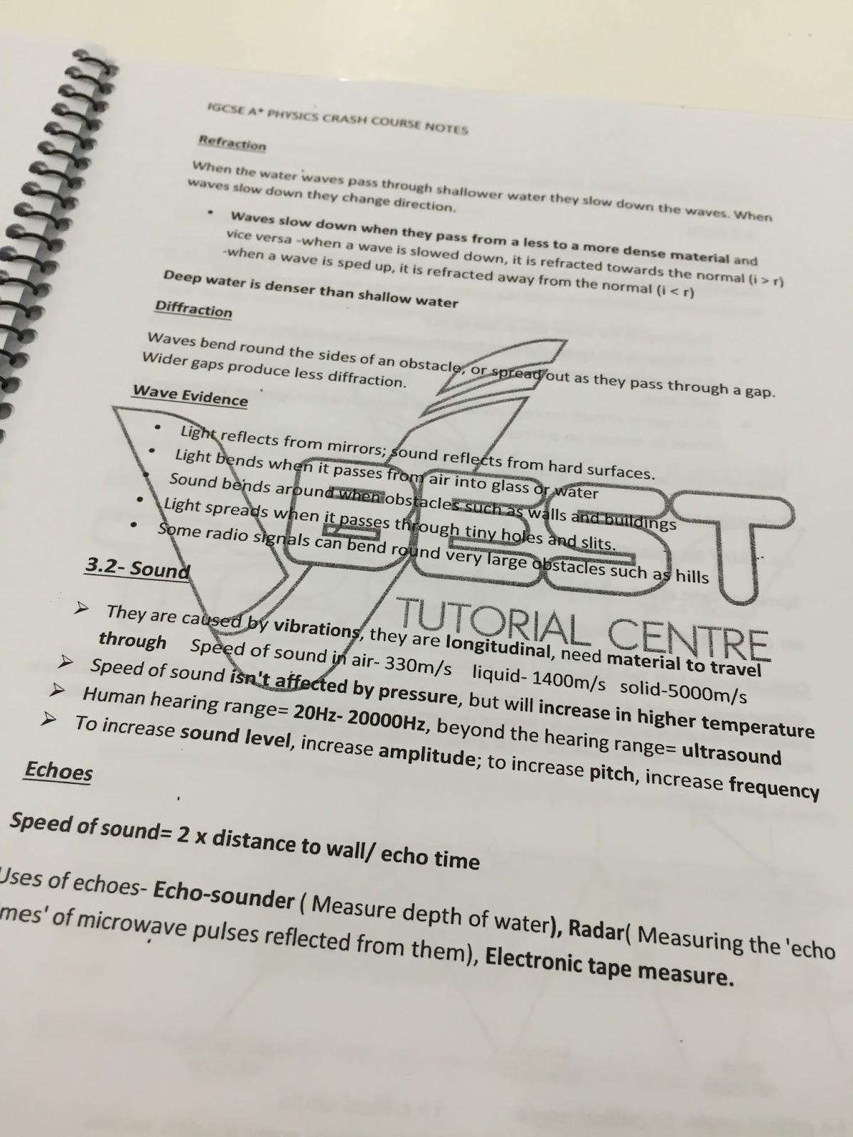 IGCSE Crash Course Notes - mr sai mun