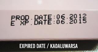 Expired date / kadaluwarsa