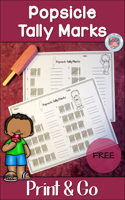 These two popsicle themed tally mark worksheets, 1-10 and 11-20, are a perfect way to cool down while reviewing and practicing counting skills with kindergarteners and first graders at the end of the school year, during summer, or at the beginning of the school year.