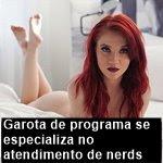 Garota de programa se especializa no atendimento de nerds