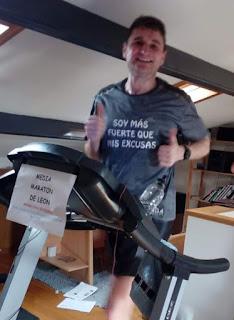 Corrió la Media Maraton en Leon 2020