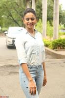 Rakul Preet Singh in Jeans and White Shirt At Jaya Janaki Nayaka le Logo Launch ~  Exclusive 026.JPG