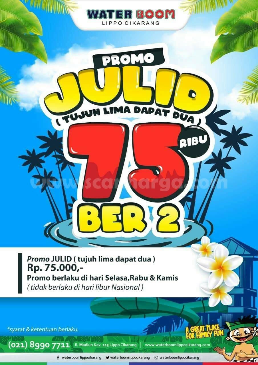 WATERBOOM Promo JULID [75rb Dapat Dua] Tiket