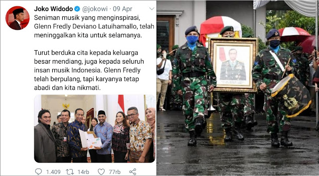 Tak Seperti Glenn Fredly, Akun Twitter Jokowi belum Ucapkan Duka Cita Untuk Mantan Panglima TNI Djoko Santoso