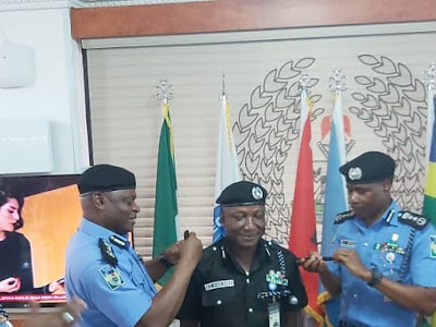 Assistant IGP, Bashir Makama Decorated With His New Rank By Inspector General of Police, Mohammed Adamu in Abuja. PHOTOS