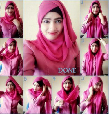 Style Hijab Anak Muda Simple Paris