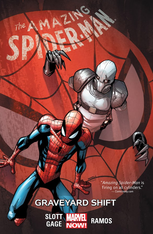 amazing spider man graveyard shift marvel comics cover christos gage dan slott humberto ramos