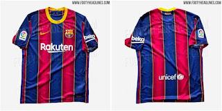New Barca's home kit For 20/21 Season leaked