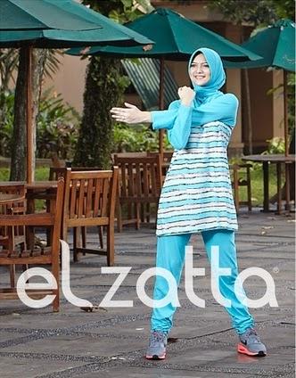 Contoh Desain Baju Muslim Senam Model Baru
