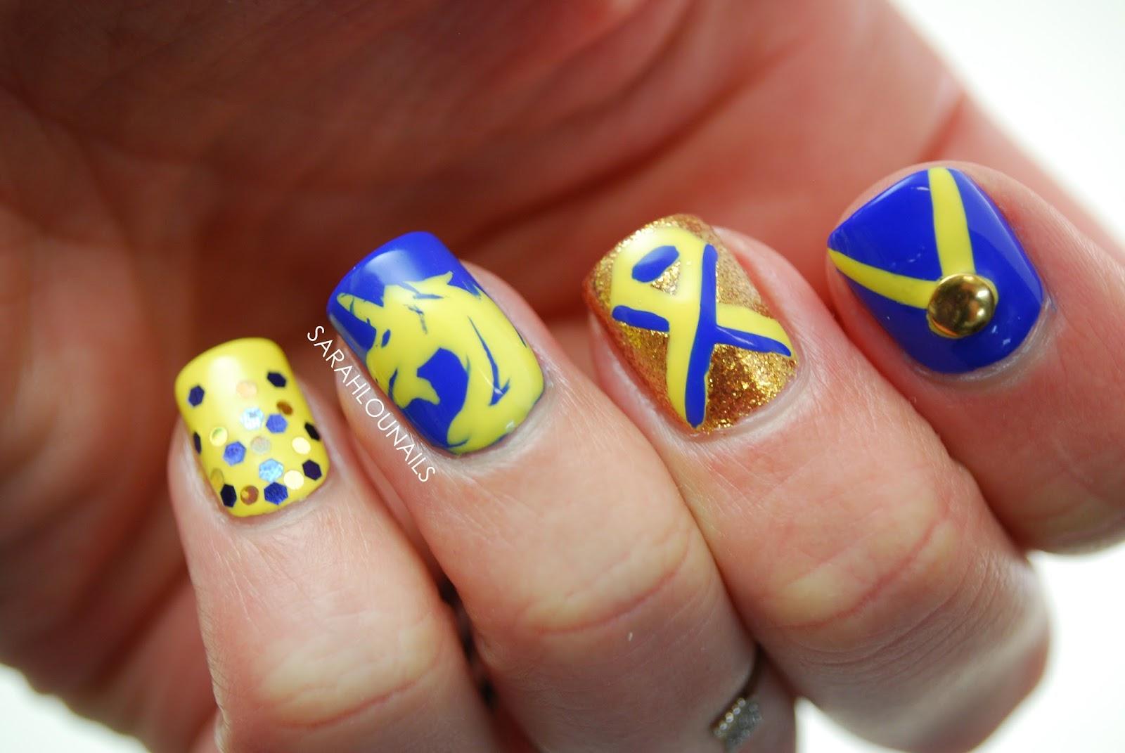Sarah Lou Nails: Boston Marathon 2016 Nails!