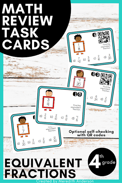 https://www.teacherspayteachers.com/Product/Equivalent-Fractions-Review-and-Test-Prep-Task-Cards-1372924?aref=sfmn88uk&utm_source=Momgineer%20Blog&utm_campaign=9%20Ways%20to%20Use%20Task%20Cards%20-%204th%20equiv%20fractions%20set